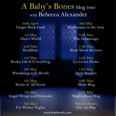 A Baby's Bones blog tour banner